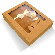 BoboBaby Paturica Microfibra cu aplicatii 3D IN CUTIE CADOU - Bufnita (76x102 cm) - Lenjerie pat copii