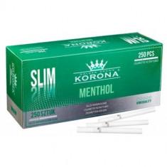 Tuburi tigari KORONA SLIM MENTHOL - 250 buc. la cutie pentru injectat tutun - Foite tigari