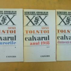 Calvarul 3 volume Alexei Tolstoi Bucuresti 1987 - Roman istoric