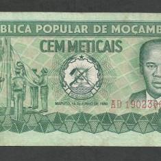 MOZAMBIC 100 METICAIS 1980 [1] P-126, VF - bancnota africa