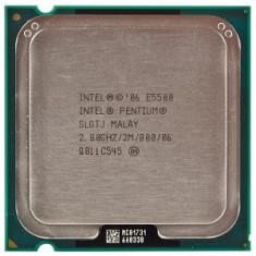 Procesor Intel Pentium Dual-Core E5500, 2.8GHz, Socket LGA775, FSB 800 - Procesor PC Intel, Numar nuclee: 2, 2.5-3.0 GHz
