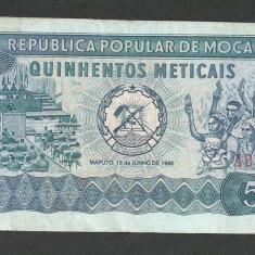 MOZAMBIC 500 METICAIS 1980 [5] VF+, P-127 - bancnota africa