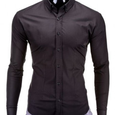 Camasa barbati k219 neagra, Marime: S, M, L, XL, XXL, Culoare: Negru, Maneca lunga