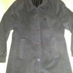 Haina palton stofa neagra barbati mas 52 - Palton barbati, Culoare: Negru
