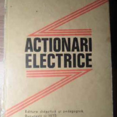 Actionari Electrice (cotor Deteriorat) - Al.fransua C.saal I.topa, 388911 - Carti Electrotehnica