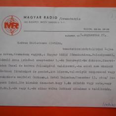 HOPCT DOCUMENT VECHI 1 A UNGARIA MAGYAR RADIO BUDAPESTA 1975- LIMBA MAGHIARA, Documente