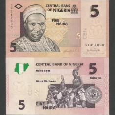 NIGERIA 5 NAIRA 2006 UNC [1] P-32a, necirculata - bancnota africa