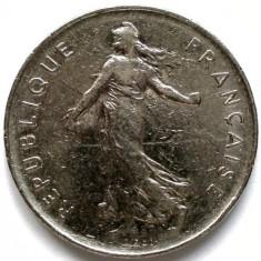 FRANTA, 5 FRANCS 1972, URIASA 29mm., Europa, Crom