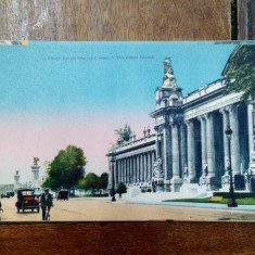 Le Grand Palais, Carte postala ilustrata dubla - Harta Europei