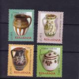 ROMANIA 2008, LP 1797, CERAMICA ROMANEASCA III OALE SI CANI SERIE MNH - Timbre Romania, Nestampilat