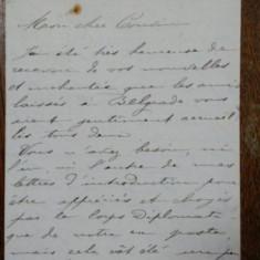 Irene Mavrocordat, Scrisoare olografa, antet Legation Royale de Roumanie