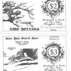 X . RARR : CANADA, VOGLER'S COVE = LOCAL MONEYS = LOT COMPLET - 1995 - UNC - bancnota america
