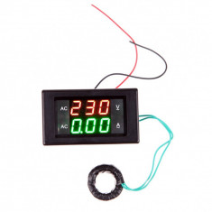 Voltmetru si ampermetru digital AC 60 - 300V 0-100A + Shunt Inclus