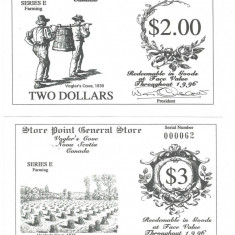 X . RARR : CANADA, VOGLER'S COVE = LOCAL MONEYS = LOT COMPLET - 1996 E - UNC - bancnota america