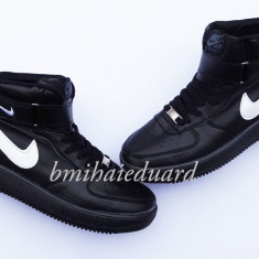 ADIDASI NIKE AIR FORCE 1 NEGRU - Adidasi barbati Nike, Marime: 41, 42, 43, 44, Culoare: Din imagine, Piele sintetica