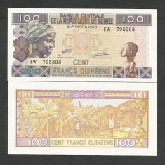 GUINEEA GUINEA 100 FRANCI FRANCS 2012 UNC [1] P-35b, necirculata - bancnota africa