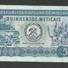MOZAMBIC 500 METICAIS 1980 [1] XF, P-127 - bancnota africa
