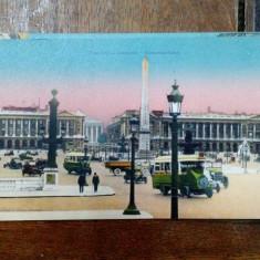 Place de la Concorde, Carte postala ilustrata dubla - Harta Europei