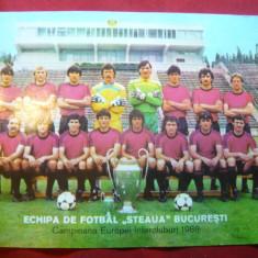 Fotografie a Echipei Steaua Bucuresti -Campioana Europei Intercluburi 1986