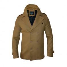 Palton Ralph Lauren Elegant - Model Slim - Toamna Iarna Cod Produs 8722 - Palton barbati, Marime: L, XL, XXL, Culoare: Crem, Bumbac