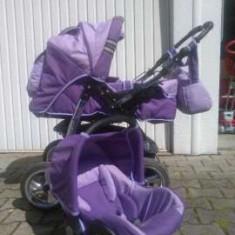 Vand caruciorul marca Baby Merc 3 in 1. - Carucior copii 3 in 1 Baby-Merc, Violet