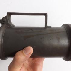 Halba de bere din zinc.Piesa de colectie de la inceput de sec.XIX., Antimoniu