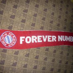 Fular al suporterilor Echipei de Fotbal Bayern Munchen, deviza: Forever Number 1 - Fular fotbal