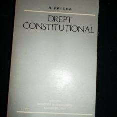 DREPT CONSTITUTIONAL, NISTOR PRISCA - Carte Drept constitutional