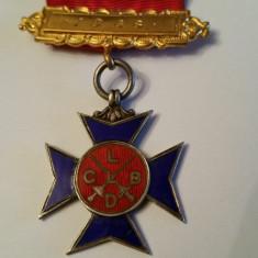 Decoratie ( medalie ) masonica, loja britanica argint cu email