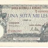 !!! ROMANIA - 100.000 LEI 20 XII 1946 - P 58 - XF / CEA DIN SCAN - Bancnota romaneasca