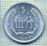 8346 MONEDA- CHINA - 5 FEN -anul 1986 -starea ce se vede, Africa
