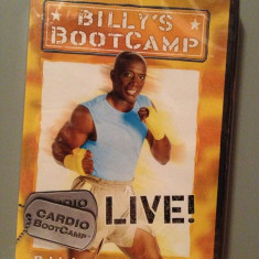 "DVD Sport  - ""BILLY'S BOOTCAMP - LIVE"" -  cu BILLY BLANKS (2005) -Nou/Sigilat, Altele"