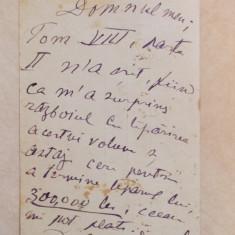Carte postala scrisa si semnata de D. Alecsandresco , circulata