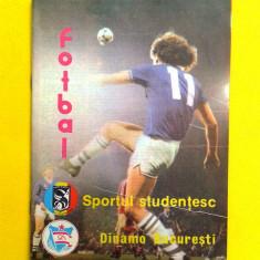 PROGRAM MECI SPORTUL STUDENTESC-DINAMO BUCURESTI 1988