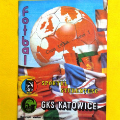 PROGRAM MECI FOTBAL SPORTUL STUDENTESC-GKS KATOWITW 1987