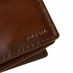 PORTOFEL FOSSIL Model ML3211200 ORIGINAL PIELE - NOU - Wallet Carson Man Brown - Portofel Barbati