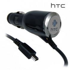 Incarcator auto HTC - miniUSB - Input 12/24V - output 5V 1A