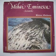 Disc vinil MIHAI EMINESCU - Scrisorile (recita Mircea Albulescu) EXE 03607/03608 - Muzica soundtrack electrecord