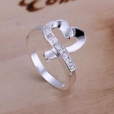 Inel inima infinit argint 925 cu piatra zirconii logodna aniversare - marime 8 - Inel argint pandora
