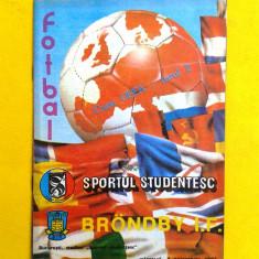 PROGRAM MECI FOTBAL SPORTUL STUDENTESC-BRONBY I.F. 1987