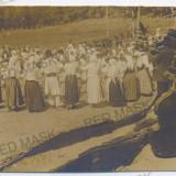 3702 - Dolj, SEGARCEA, Ethnics, folk, dance - old postcard, real PHOTO - unused