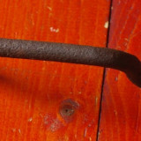 Vechi maner din metal realizat manual la ciocan si nicovala - Banat!!! - Metal/Fonta