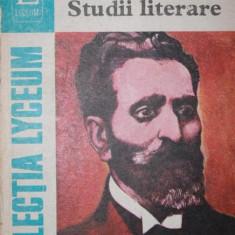 STUDII LITERARE - G. IBRAILEANU - Studiu literar