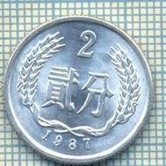 8339 MONEDA- CHINA - 2 FEN -anul 1987 -starea ce se vede, Africa