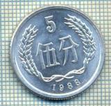 8348 MONEDA- CHINA - 5 FEN -anul 1988 -starea ce se vede, Africa