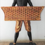 Statueta din lemn pictat - Sculptura