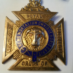 Decoratie ( medalie ) masonica Ordinul Buffaloes, Loja engleza argint