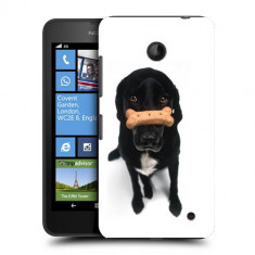 Husa Nokia Lumia 635 630 Silicon Gel Tpu Model Black Puppy - Husa Telefon