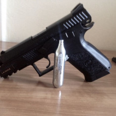 ASG CZ 75 P-07 DUTY CO2 Blowback/Recul 6mm Replica airsoft + bile PROMO#anulNnou - Arma Airsoft Asg - Danemarca