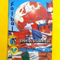 PROGRAM MECI FOTBAL SPORTUL STUDENTESC-HELLAS VERONA 1987